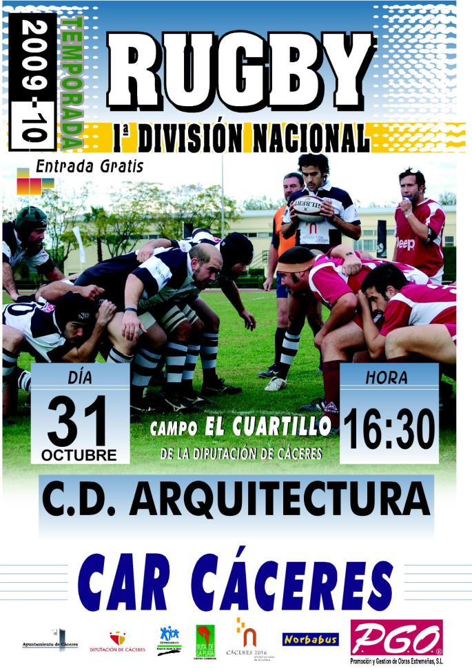 CARTEL RUGBY 2009